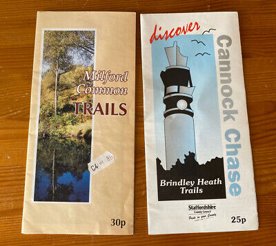 Staffordshire Walking Trail Leaflet Maps Cannock Chase Milford Common • 1.50£