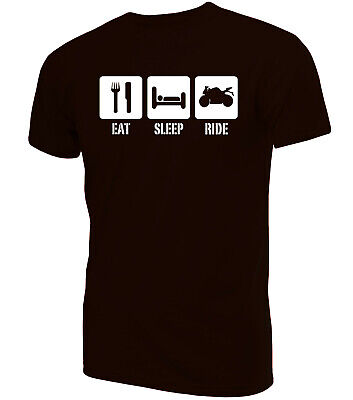 Eat Sleep Ride Motorbike T-Shirt | Funny Clothing Secret Santa • 9.99£