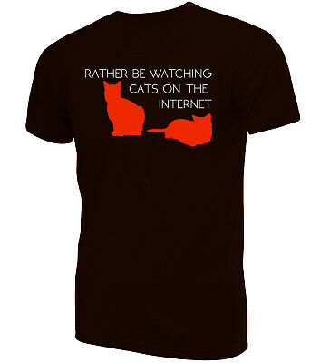 Rather Be Watching Cats T-Shirt | Novelty Funny Clothing Secret Santa • 9.99£