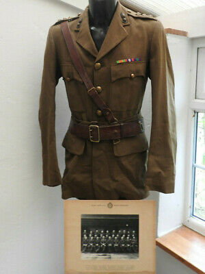 Military WW2 Royal Engineers Complete Tunic Sam Brown Officers Uniform (5482) • 199.99£