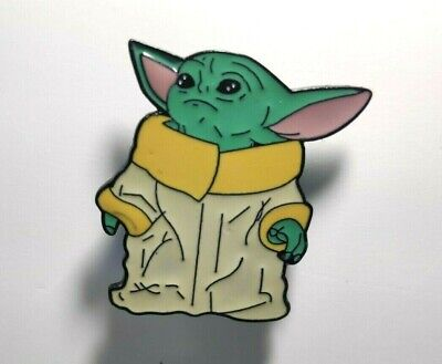 Baby Yoda Pin Badges Very Collectable From Hit Star Wars. Great Stocking Filler • 1.99£