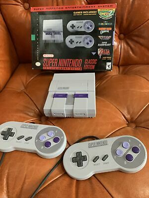 $ CDN120.25 • Buy Super Nintendo Entertainment System SNES Classic Edition W/ NES Classic Games