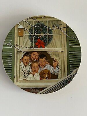 $ CDN12.13 • Buy Vintage Norman Rockwell Surprises For All 1980 Christmas Edition Plate