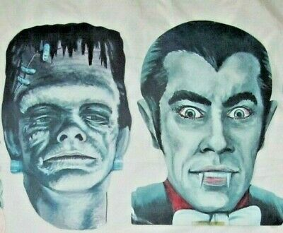 $ CDN39.63 • Buy Vintage Eureka Die Cut Frankenstein & Dracula Halloween Decoration~lot Of 2