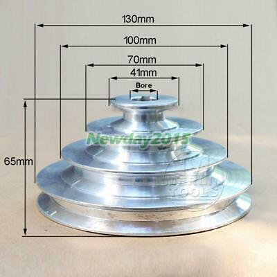 AU19.53 • Buy OD 130mm, 4 Step Pulley 16mm Bore For 1/2  = 12.7mm  Belt Width - Cast Aluminum