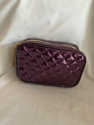 Justin Bieber Purple The Key Cosmetic Make Up Toiletry Bag Case Pouch Gold Tassl • 12.67£