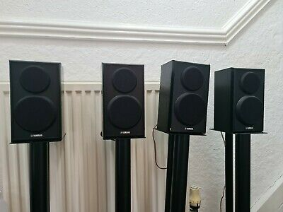 Yamaha Surround Sound Speakers Set Of 4 With Stand Atacama Stands. • 90.25£