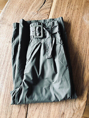 High Waist Khaki Cropped Trousers • 1.50£