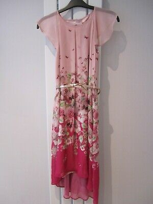 Girls Ted Baker High/Low Dress - Age 10 Years - With Rose Gold Coloured Belt  • 4.99£