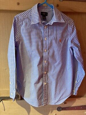 Boys Ralph Lauren Gingham Check Shirt Size M (10-12) • 5£