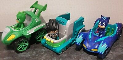 PJ Masks Romeo , Catboy & Gekko Vehicles With Figures • 15£