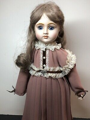 "$ CDN41.16 • Buy 15"" Gorham Musical Music Box Doll Adorable Victorian Styled Porcelain & Cloth #L"
