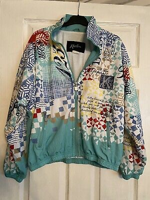 Ladies Lovely Vintage 1990s Shell Suit Jacket Top Size 12 • 0.99£