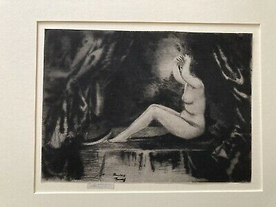 Nude Drypoint Etching By Theodore Roussel 1906 -Whistler/Sickert Interest • 129.99£