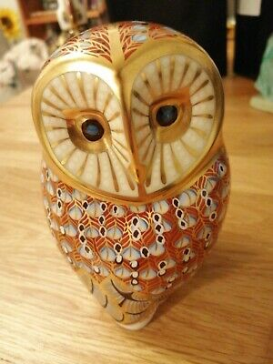 Royal Crown Derby Owl Paperweight Silver Stopper • 35£
