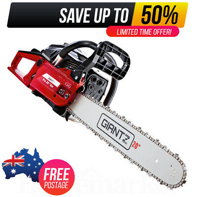 AU90.70 • Buy Giantz Petrol Chainsaw Commercial E-Start 20 Bar Pruning Chain Saw Top Handle