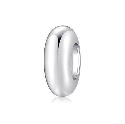AU23.99 • Buy Sterling Silver Non Slip Smooth Shiny Silicone Spacer Charm - By Pandora's Wish