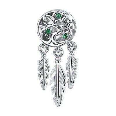 AU26.99 • Buy SOLID Sterling Silver Family Tree Dream Catcher Charm By Pandora's Wish