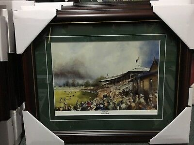 AU75 • Buy Great Carlton Football Club Blues Princes Park Oval Matted And Framed Print Vfl