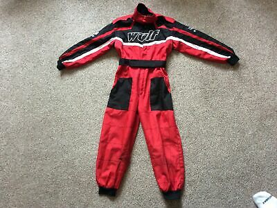 Kids Wulfsport Suit Red/Black Age 5 To 8. • 6.50£
