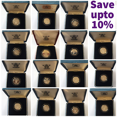 £24.99 • Buy Silver Proof £1 One Pound Coins Choice Of Year 1983 To 2015 With Certificates
