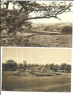 Cheshire - Two Cards - Long View Of Prestbury • 4.75£