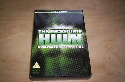 The Incredible Hulk The Complete First & Second Seasons 10 Disc DVD Set • 6.50£