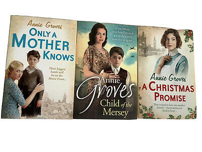 Annie Groves Books Only A Mother Knows, Child Of The  Mersey, A Xmas Promise • 5.99£