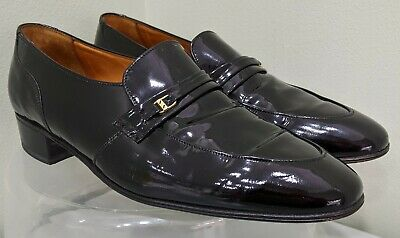 Men's Black English Shoes By Sanders Patent Slip On Shoes Size UK 7.5 • 4.99£