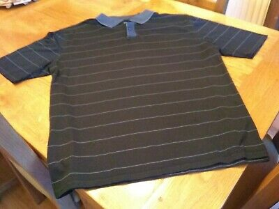 Men's Navy Striped Marks And Spencer Blue Harbour Polo Shirt • 0.99£