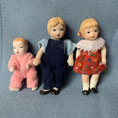 "$ CDN18.49 • Buy Doll House Dolls Porcelain Bisque Wire Joints Children 3"" Boy Girl Baby"