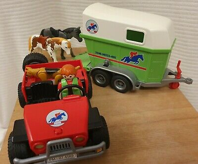Playmobil Horse Box And Car - As Pictured • 10£