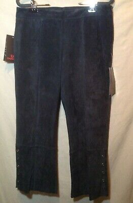 $ CDN33.69 • Buy Womens Washable Leather Black Suede Crop Pants Sz 8 Lined New With Tags Danier