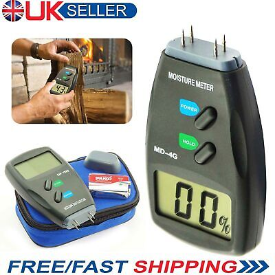 4 Pin Digital Moisture Meter PRO Damp Detector Timber Wood Tester Plaster Sensor • 8.99£