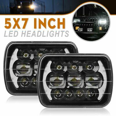 AU95.99 • Buy Pair 5x7  Inch Headlights Replacement Hilux Led Upgraded Head Lamps Hi/lo/drl H4