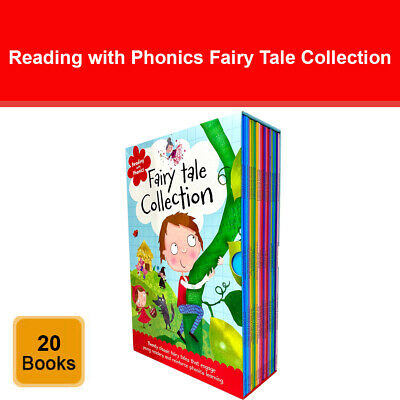 Reading With Phonics Fairy Tale Collection 20 Books Box Set By Clare Fennell • 18.58£