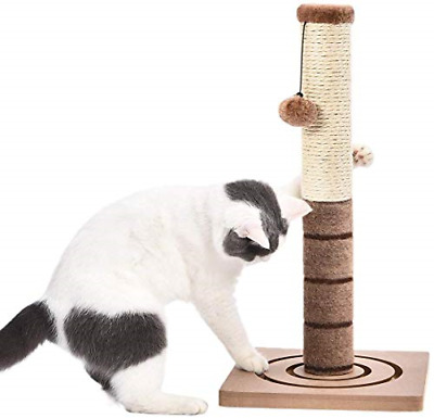 PAWZ Road Sisal Rope Scratching Post Cats Scratcher Plush Pole Interactive Toys • 28.14£