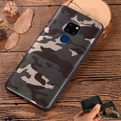 Case Cover For Huawei Mate 10 Lite Y7 Y6 2018 Slim Army Soft TPU Camo Camouflage • 3.92£
