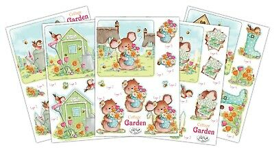 £4.99 • Buy Craft Consortium 3D Decoupage Sheets COTTAGE GARDEN - Pack Of 10 Sheets