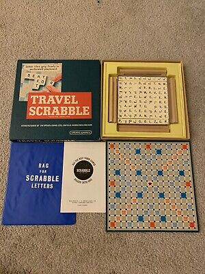 Vintage Travel Scrabble Spear's Games (1-4 Players) Family Word Board Game • 0.99£