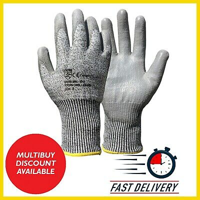 £19.99 • Buy Pu Anti Cut Resistant Work Safety Gloves Builders Grip Protection Level 5