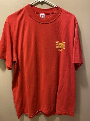 $ CDN7.92 • Buy Vintage Soffe T Shirt Marine Corps Engineer School XL Red Made In USA