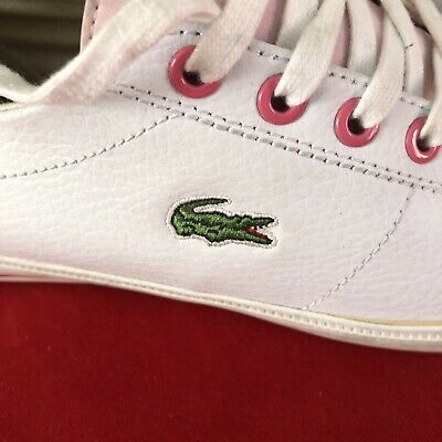 Lacoste Ladies White Size UK 4 Trainers/casual Shoes • 17.50£