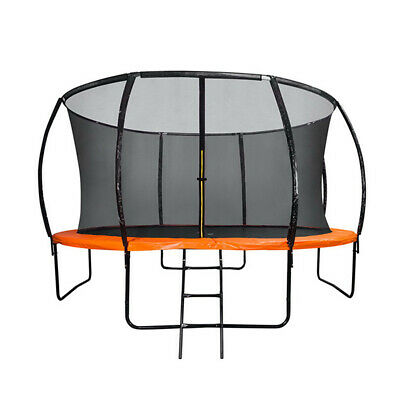 AU289 • Buy 6FT Round Trampoline Orange Basketball Hoop Safety Net Enclosure Outdoor Play