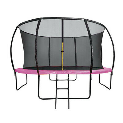 AU289 • Buy 6FT Round Trampoline Pink Basketball Hoop Safety Net Enclosure Outdoor Play