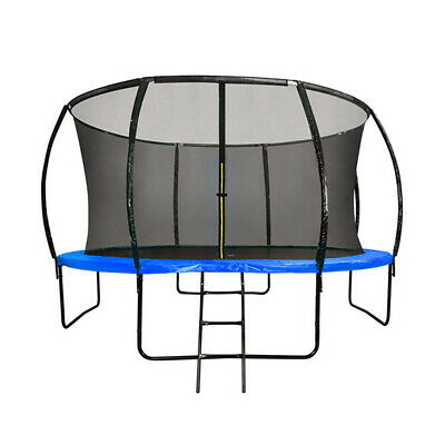 AU320 • Buy 6FT Round Trampoline Blue Basketball Hoop Safety Net Enclosure Outdoor Play