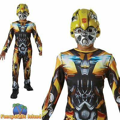 Rubies Official Bumble Bee Transformers Classic Boys Fancy Dress Costume • 23.39£