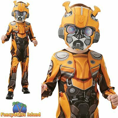 Rubies Official Bumble Bee Transformers TF6 Movie Boys Fancy Dress Costume • 24.69£
