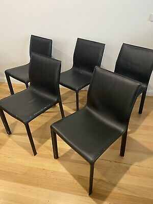 AU80 • Buy Black Leather Dining Chairs
