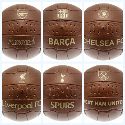 £16.95 • Buy Football Clubs Official Size 5 Faux Leather Retro Vintage Ball Gold Text Badge